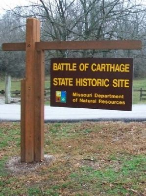 Battle of Carthage State Historic Site Sign image. Click for full size.