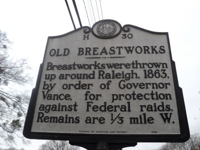 Old Breastworks Marker image. Click for full size.