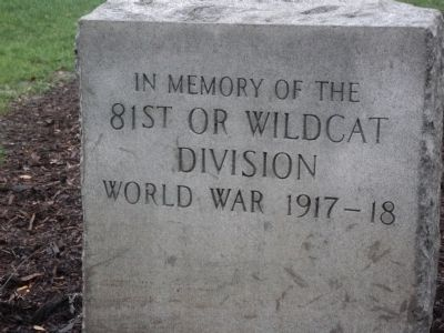 81st or Wildcat Division Marker image. Click for full size.
