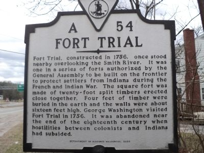 Fort Trial Marker image. Click for full size.
