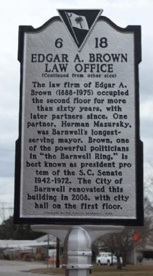 Edgar A. Brown Law Office Marker image. Click for full size.