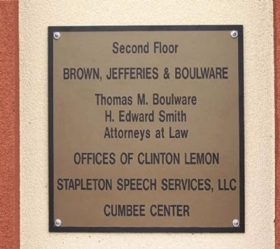 Second Floor today, still a Brown Law Office image. Click for full size.
