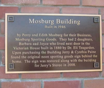 Mosburg Building Marker image. Click for full size.