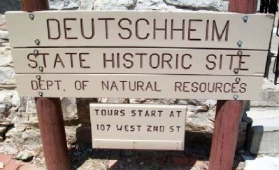 Deutschheim State Historic Site Sign image. Click for full size.