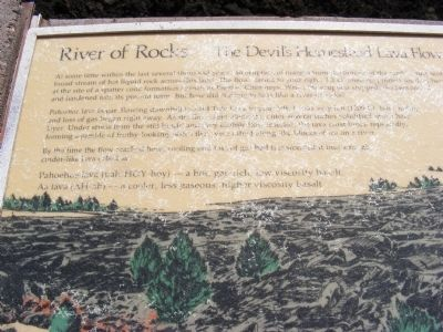River of Rocks-The Devils Homestead Lava Flow Marker image. Click for full size.