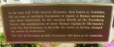 Hermann: Germania's Liberator Marker (back) image. Click for full size.