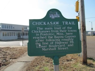Chickasaw Trail Marker image. Click for full size.