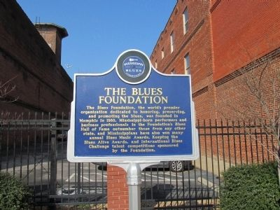 The Blues Foundation Marker image. Click for full size.