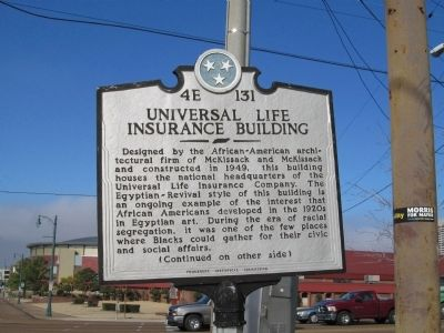Universal LIfe Insurance Building Marker image. Click for full size.