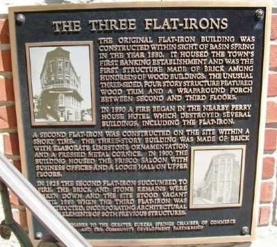 The Three Flat-Irons Marker image. Click for full size.