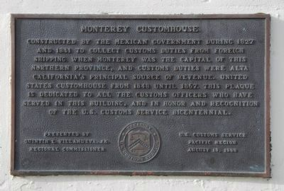 Monterey Customhouse Marker image. Click for full size.