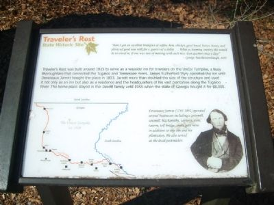 Traveler's Rest State Historic Site Marker image. Click for full size.