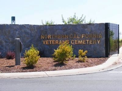 Entrance to the Northern California Veterans Cemetery image. Click for full size.