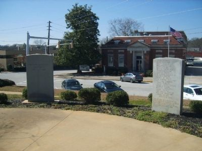 Stephens County World War I Monument (Left) image. Click for full size.
