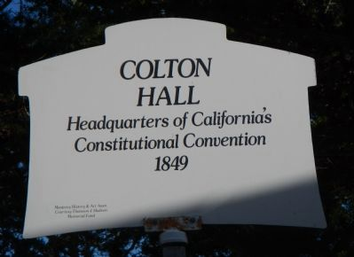 Colton Hall Marker image. Click for full size.