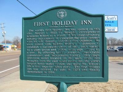 First Holiday Inn Marker image. Click for full size.