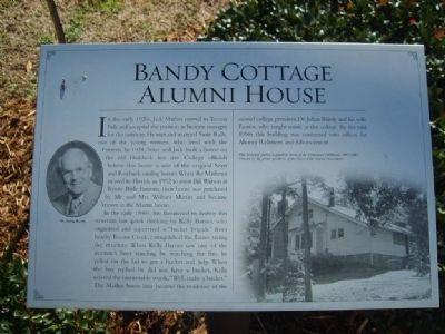 Bandy Cottage Alumni House Marker image. Click for full size.