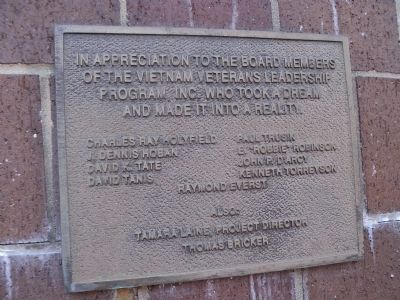 Dedication Plaque image. Click for full size.