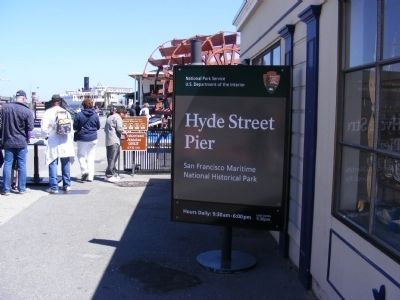 Hyde Street Pier Entrance image. Click for full size.