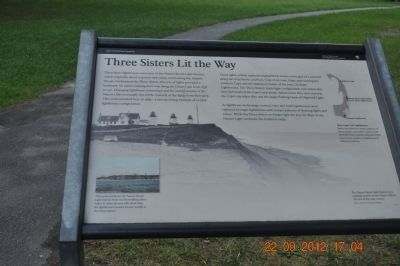 Three Sisters Lit the Way Marker image. Click for full size.
