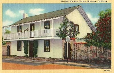 The Old Whaling Station Vintage Postcard image. Click for full size.