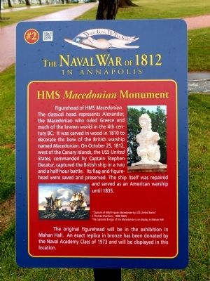 HMS Macedonian Monument Marker image. Click for full size.