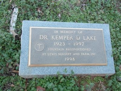 Dr. Kemper D. Lake fountain image. Click for full size.