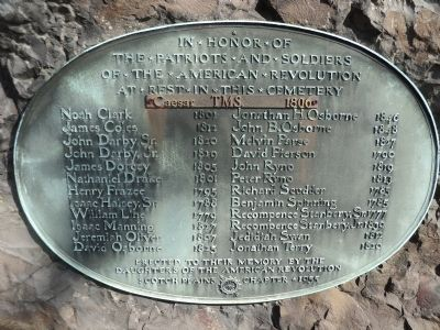 Patriots and Soldiers of the American Revolution Marker image. Click for full size.