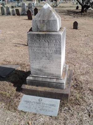 Grave of Recompence Stanbery, Jr. image. Click for full size.