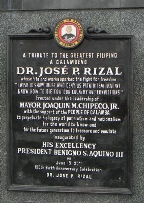 José Rizal Monument - Panel 2 image. Click for full size.