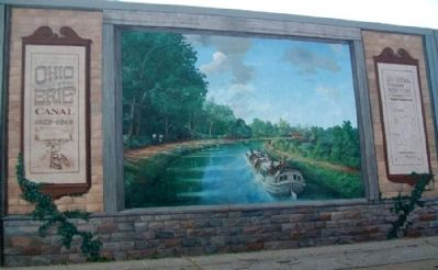 Ohio and Erie Canal Mural image. Click for full size.