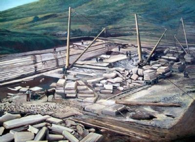 Early Industries Mural Detail - Stone Quarry image. Click for full size.