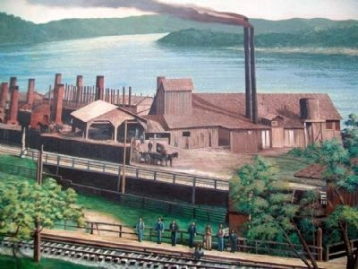 Early Industries Mural Detail - Brick Plant image. Click for full size.