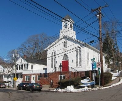 First Baptist Church of Port Jefferson Marker image. Click for full size.