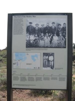 The End of the Modoc War Marker image. Click for full size.