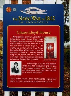 Chase-Lloyd House Marker image. Click for full size.