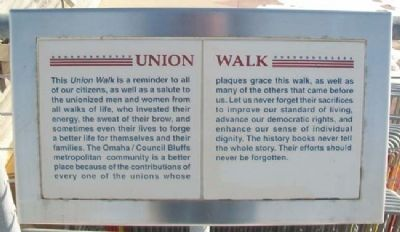 Union Walk Marker image. Click for full size.