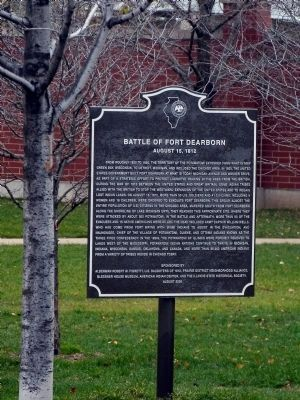 Battle of Fort Dearborn Marker image. Click for full size.
