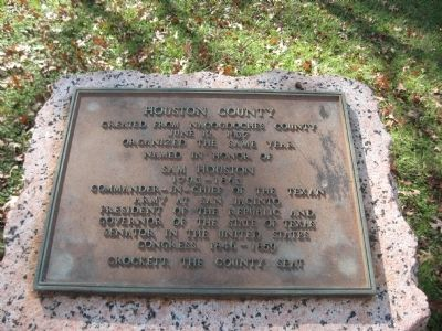 Houston County Marker image. Click for full size.