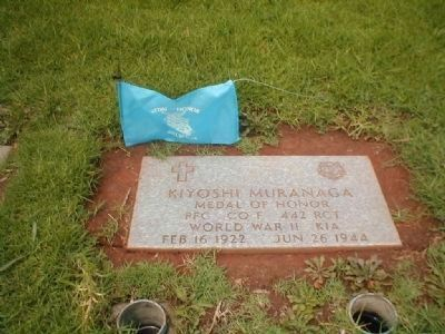 Medal of Honor Recipient Kiyoshi K. Muranga Grave Site image. Click for full size.