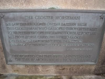 The Closter Horseman Marker image. Click for full size.