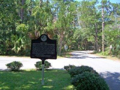 Sapelo Island Marker along Landing Road/Sapelo Dock Road image. Click for full size.