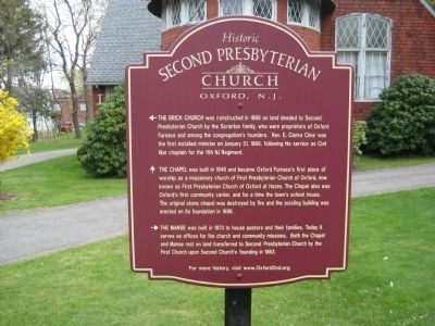 Historic Second Presbyterian Church Marker image. Click for full size.