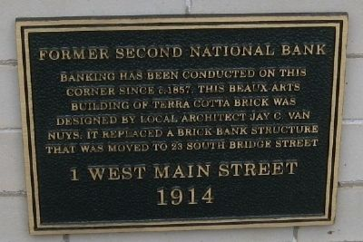 Second National Bank Marker image. Click for full size.