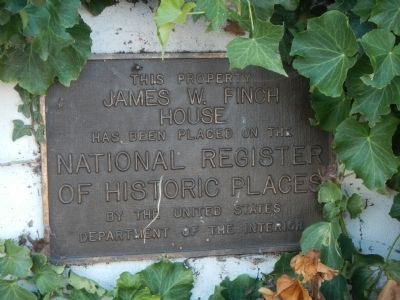 James W. Finch House Marker image. Click for full size.