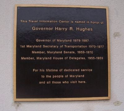 Governor Harry R. Hughes Marker image. Click for full size.