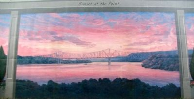 Sunset At The Point Mural image. Click for full size.