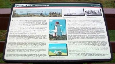 Mulholland Point / La Pointe Mulholland Marker image. Click for full size.