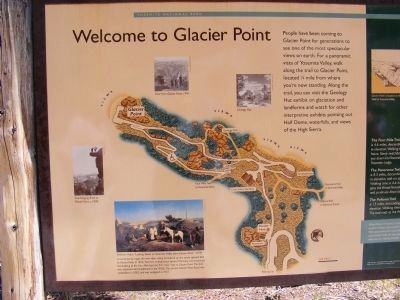 Welcome to Glacier Point Marker image. Click for full size.