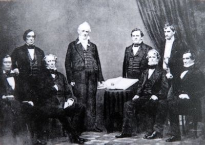 Buchanan and his cabinet. Photo, Click for full size